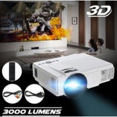 1080P Full HD 3D LED Projector Home Multimedia Cinema Theater USB AV TV VGA HDMI